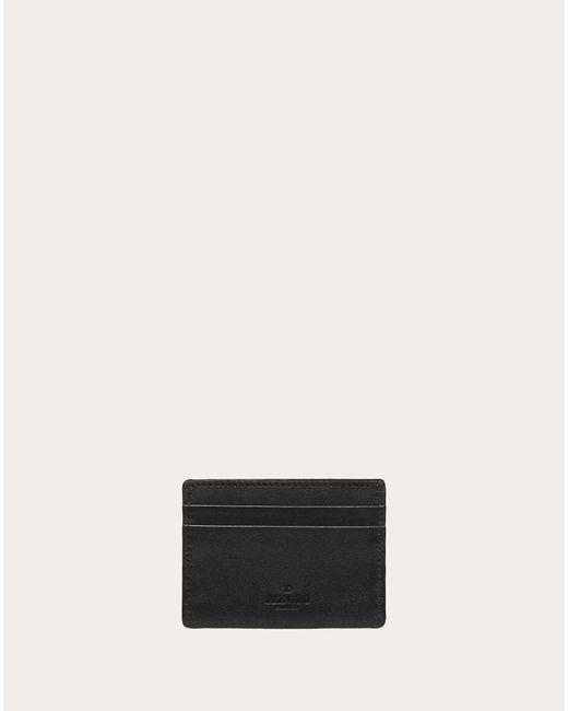 メンズ Valentino Garavani Garavani コレクション ブラック でコンストラクト Vlogo カード ホルダー Black