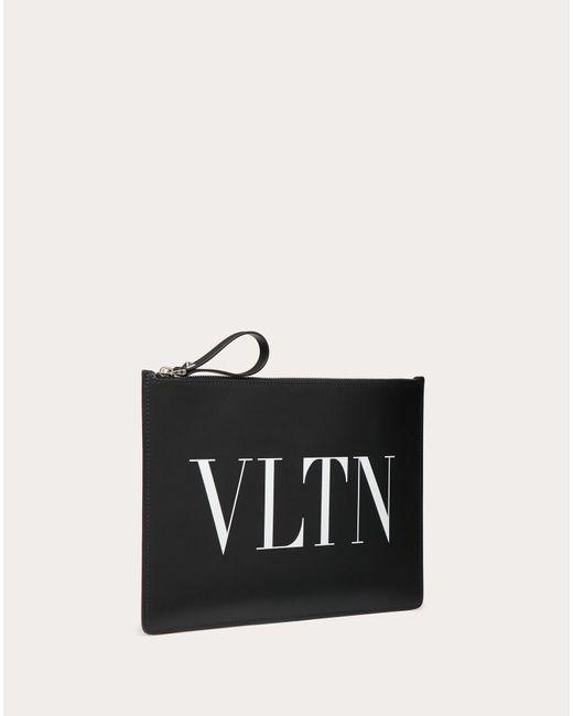 メンズ Valentino Vltn ポーチ メンズ ブラック 牛革(カーフ) 100% Onesize Black