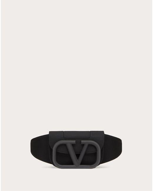 メンズ Valentino Garavani Supervee ナイロン ベルトバッグ Black