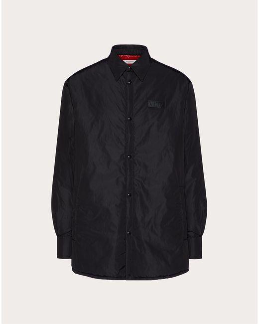 メンズ Valentino Valentino Vltnタグ パッディドシャツ Black
