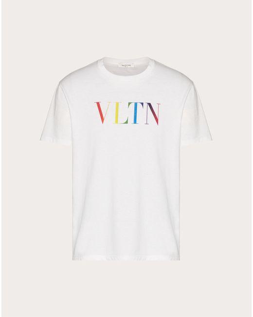 メンズ Valentino Valentino Vltn マルチカラー Tシャツ White