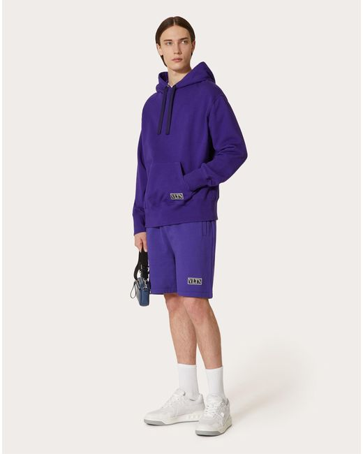 メンズ Valentino Valentino Vltn タグ コットン スウェットシャツ Purple
