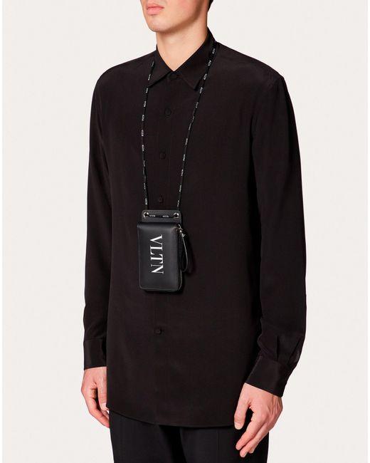 Portafoglio Da Collo Vltn di Valentino Garavani in Black da Uomo
