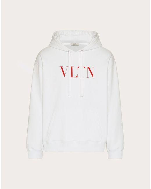 メンズ Valentino Valentino スウェットシャツ フード付き Vltnプリント White