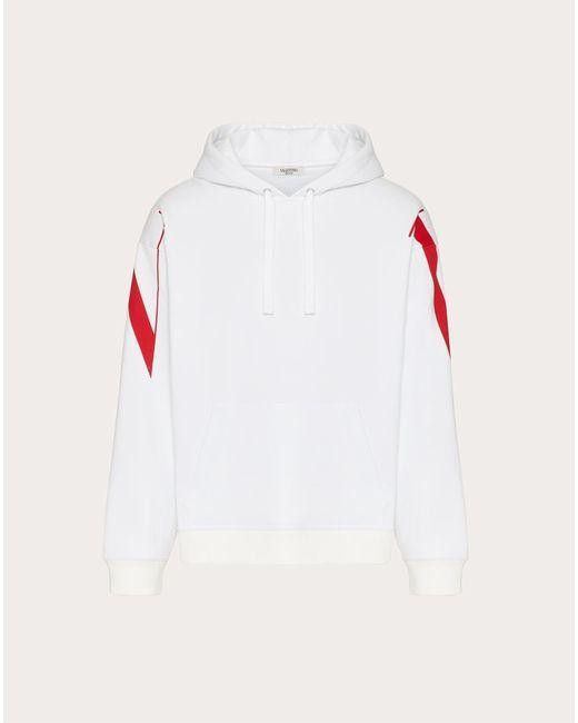 メンズ Valentino Valentino スウェットシャツ フード付き マクロvltnプリント White