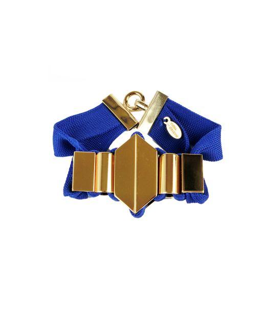 Marion Vidal | Metallic Blue Ribbon Bracelet | Lyst