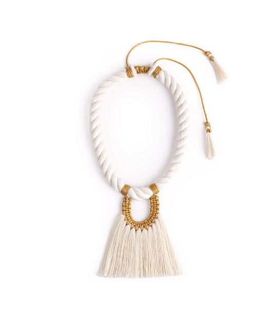 Caralarga | White Ivory Fantasma Sencillo Necklace | Lyst
