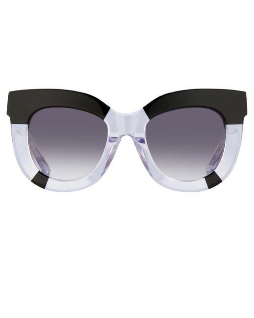 Linda Farrow | Blue Erdem Chunky Browline Sunglasses | Lyst