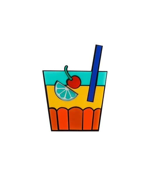 Yazbukey | Blue Sex On The Beach Cocktail Brooch | Lyst