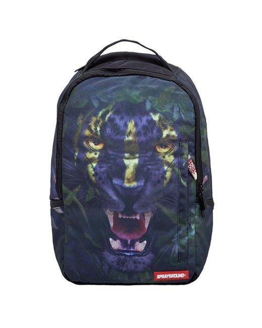 Sprayground Blue Leopard Backpack for men
