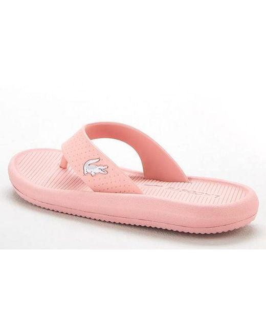 bf085f8bc ... Lacoste - Pink Croco Sandal 219 1 Cfa - Lyst ...