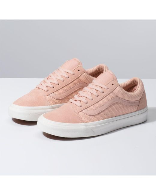 ofertas exclusivas nueva selección bastante baratas Vans Suede Woven Check Old Skool in Pink - Lyst