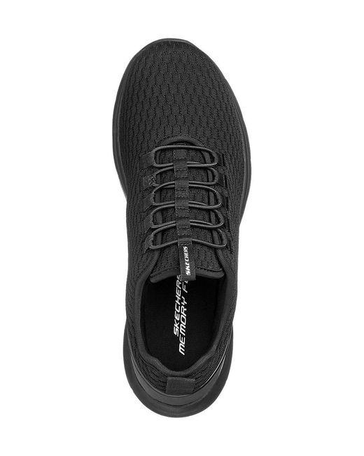 Skechers E Sneaker Elastische Vetersluiting in het Black voor heren