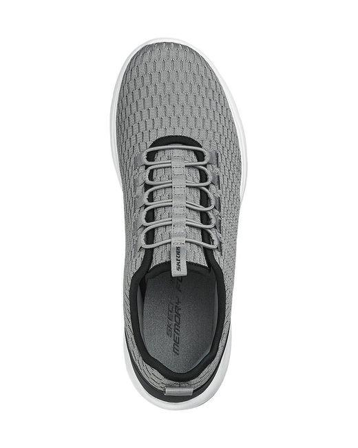 Skechers Grijze Sneaker Elastische Vetersluiting in het Gray voor heren