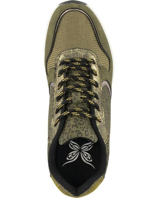 graceland E Sneaker Panterprint in het Green