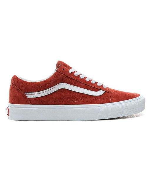 Vans Red Pig Suede Old Skool Schuhe