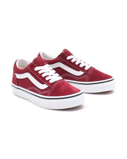 Chaussures Old Skool Ado Vans en coloris Rouge - Lyst
