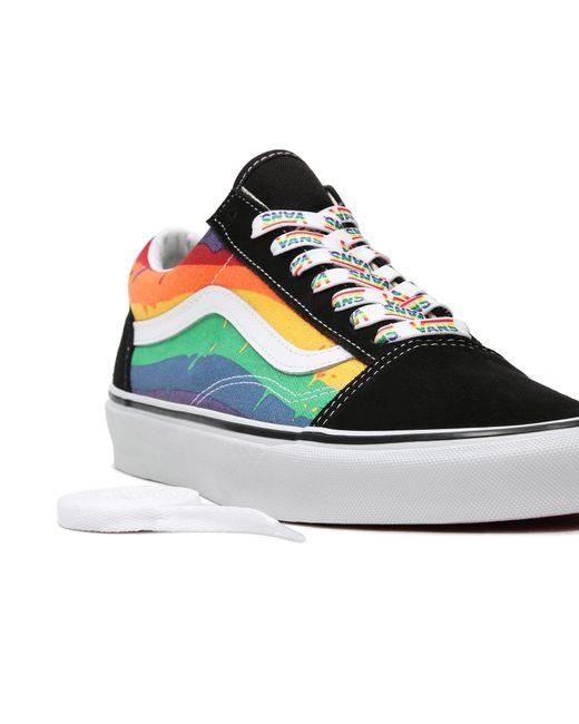 Chaussures Rainbow Drip Old Skool Vans en coloris Noir - 2 % de ...