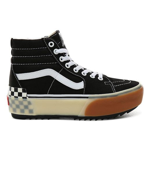 Vans Black Sk8-hi Stacked Schuhe