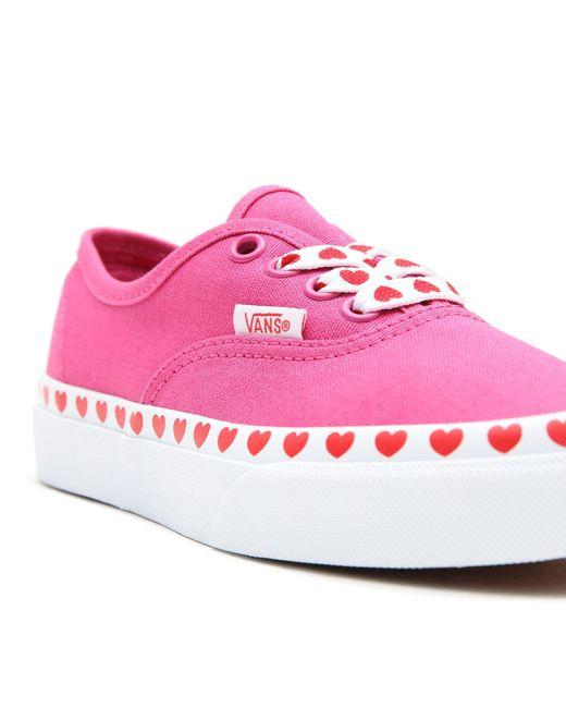 Chaussures Heart Foxing Authentic Ado Toile Vans en coloris Rouge ...