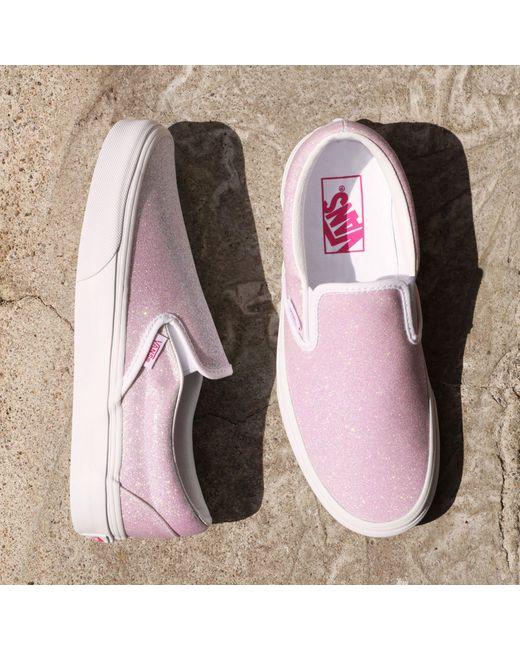 Vans White Uv Glitter Classic Slip-on Schuhe