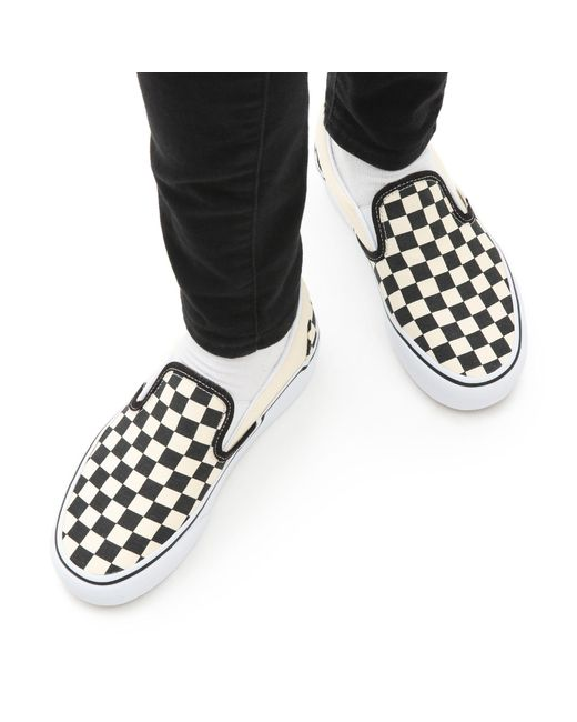 Chaussures Checkerboard Classic Slip-on Platform Toile Vans pour ...