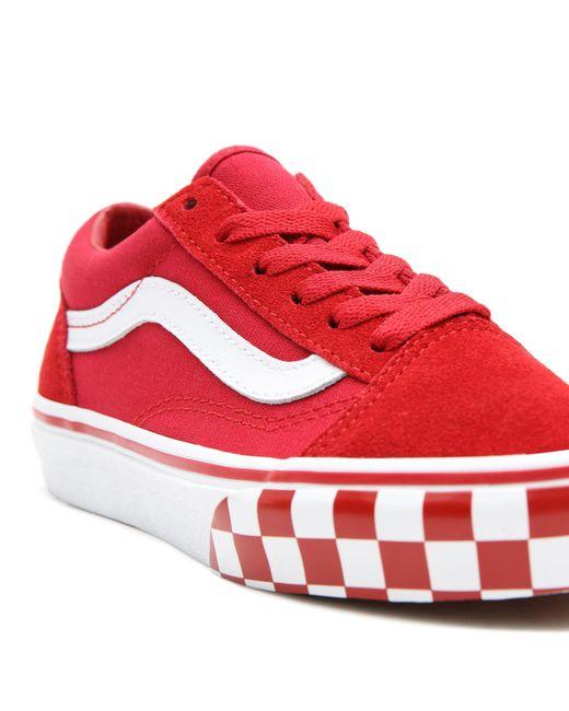 Chaussures Check Bumper Old Skool Ado Daim Vans en coloris Rouge ...