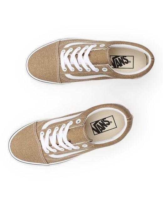 Chaussures Old Skool Vans en coloris Marron - Lyst