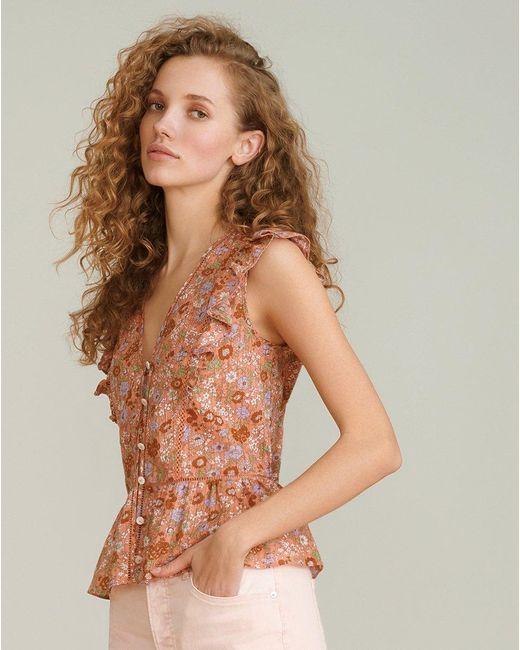 Veronica Beard Multicolor Araya Cotton-voile Top
