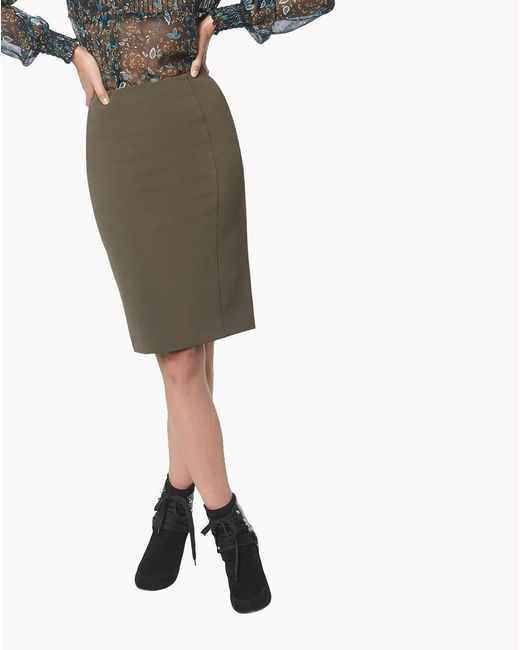 Veronica Beard | Green Scuba Pencil Skirt | Lyst