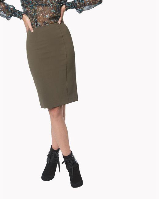 Veronica Beard | Green Scuba Pencil Skirt | Lyst