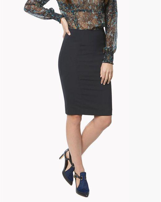 Veronica Beard | Black Scuba Pencil Skirt | Lyst