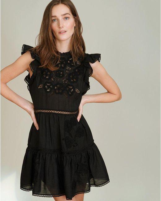 Veronica Beard Black Sahara Tiered Minidress