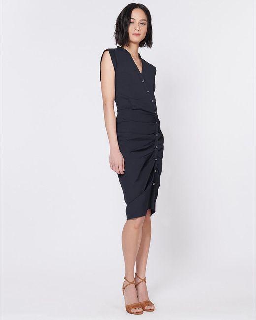 Veronica Beard - Black Ruched Shirt Dress - Lyst
