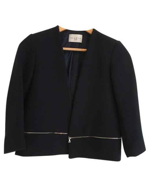 Sandro Blue Cotton Jacket