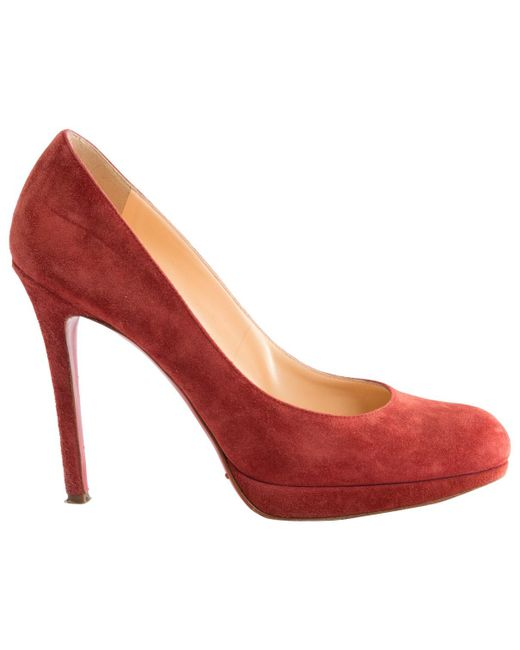 Christian Louboutin | Red Pre-owned Simple Pump Heels | Lyst
