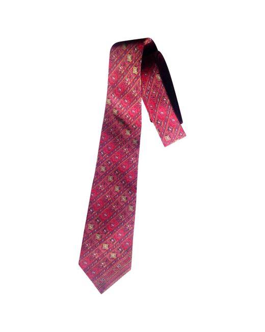 Lanvin - Pre-owned Vintage Red Silk Ties for Men - Lyst