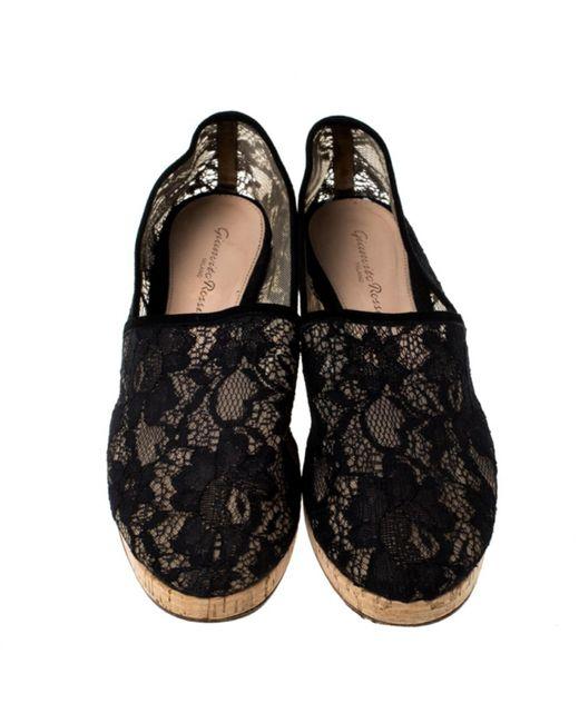 Gianvito Rossi \n Black Cloth Espadrilles