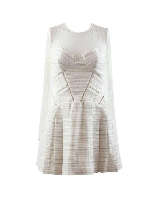 Self-Portrait White Synthetic Dress