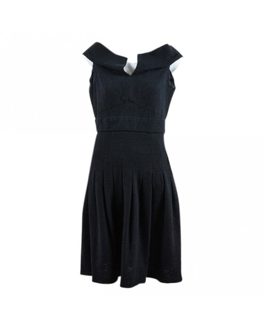 Chanel - Black Cotton Dress - Lyst