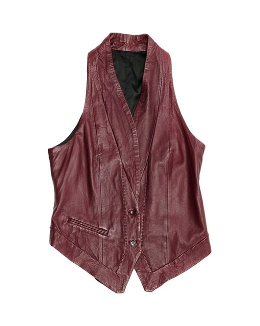 Zadig & Voltaire Multicolor Burgundy Leather Knitwear