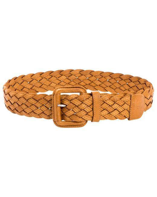 Chloé - Multicolor Camel Leather Belts - Lyst