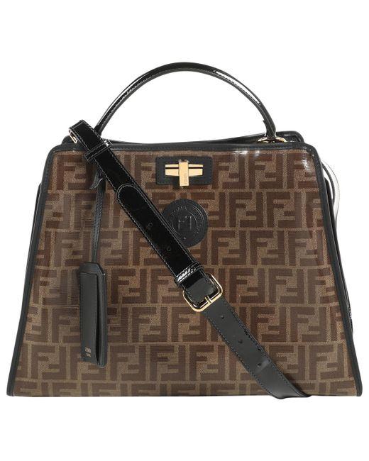 Fendi - Multicolor Peekaboo Defender Patent Leather Handbag - Lyst ... 3724874fee580