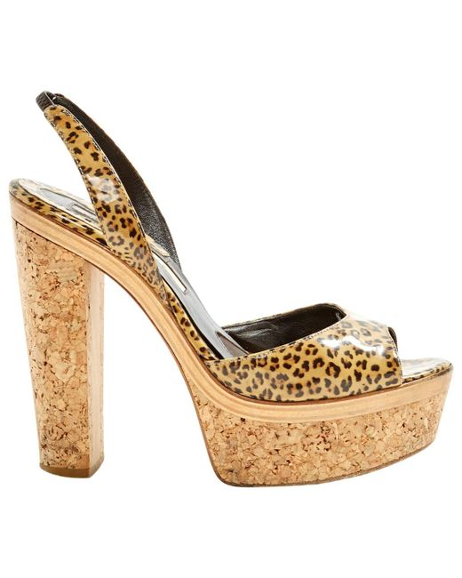 1bbb30ebf84 Brian Atwood - Brown Patent Leather Heels - Lyst ...