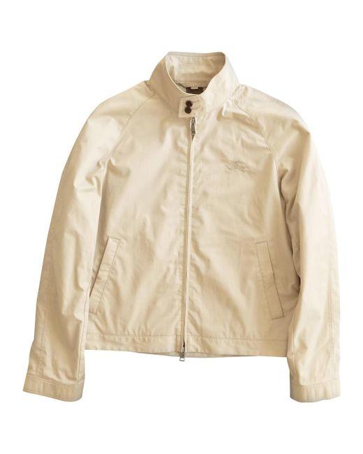 Burberry - Natural Beige Cotton Jacket for Men - Lyst