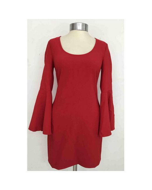 Elizabeth and James Red Polyester Dress
