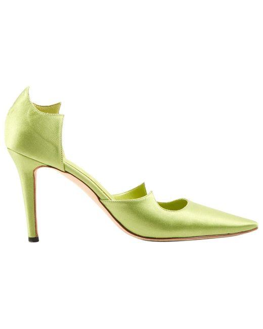 Escarpins en Toile Vert Manolo Blahnik en coloris Green