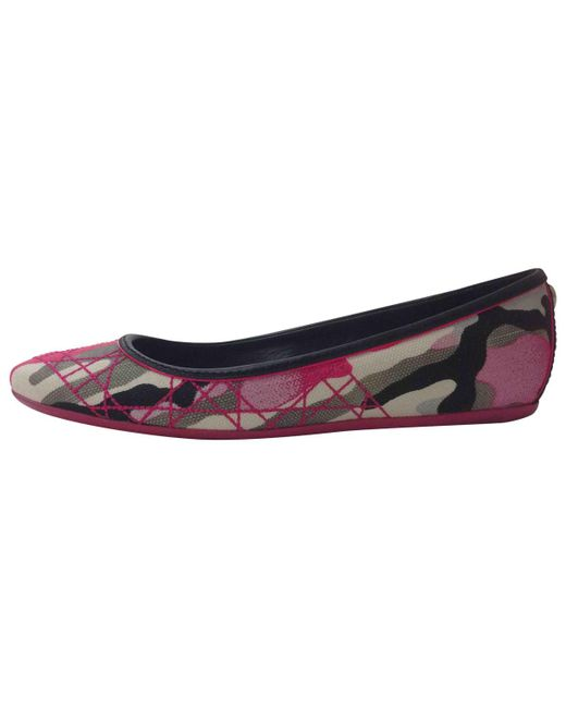 Dior | Multicolor Pre-owned Cloth Ballet Flats | Lyst