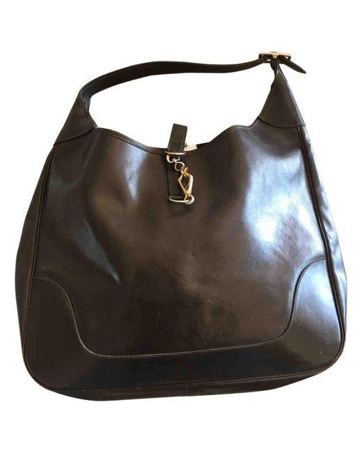 Hermès - Brown Trim Leather Handbag - Lyst