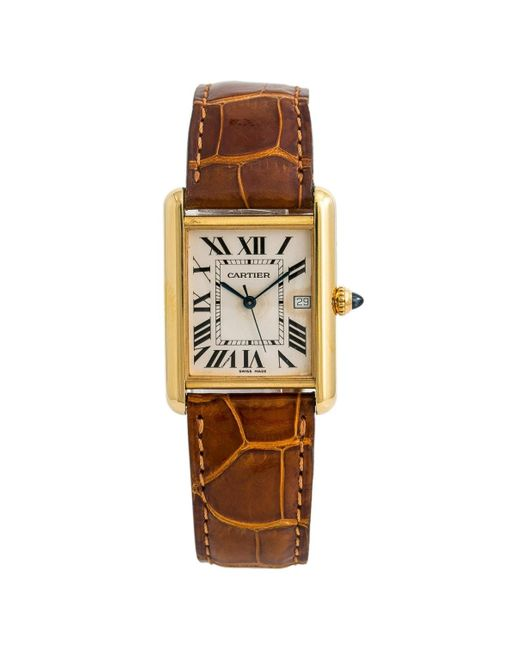 Cartier Metallic Tank Louis Other Yellow Gold Watches for men